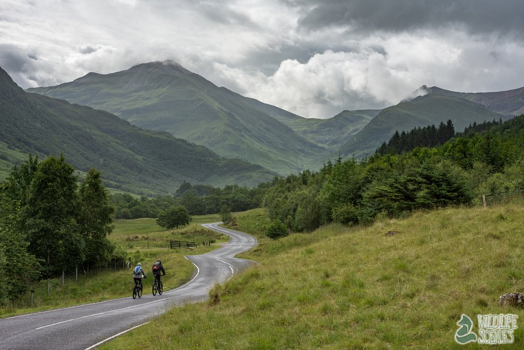 cycling to Ben Nevis